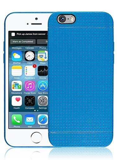 Microsonic Dot Style Silikon iPhone  6 4.7'' Kılıf Mavi Renkli